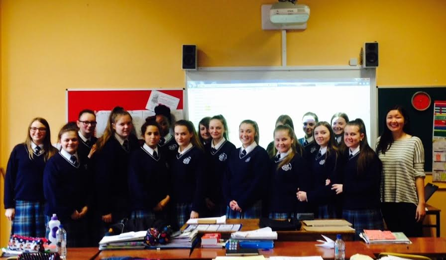 Amanda Hay, Software Engineer with TripAdvisor visiting Mount Carmel Secondary School.